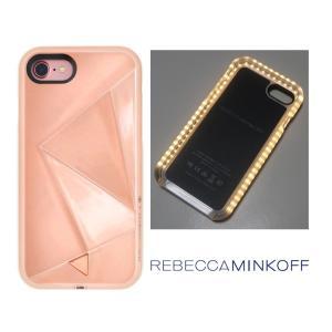 レベッカミンコフ(Rebecca Minkoff)光るLED iPhone6、7、8ケース/ミラーローズゴールド/iPhone6|orangecake