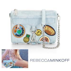 レベッカミンコフ(Rebecca Minkoff)M.A.C. ワッペン付きショルダーバッグ ミニ/デニムパッチーズ/斜め掛けクラッチバッグ/Mini M.A.C. Crossbody|orangecake