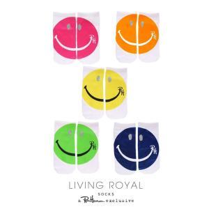 メール便送料無料/ロンハーマン(Ron Herman)スマイル柄靴下/アンクルソックス/Living Royalコラボ/Glitter Happy Face Ankle Socks|orangecake
