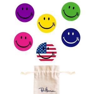 メール便送料無料/ロンハーマン(Ron Herman)スマイルバッジ6個セット/専用巾着袋付き/Smile Pin Pack|orangecake