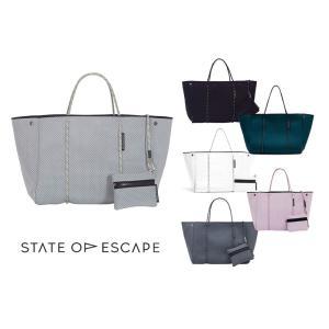 State of Escape(ステイトオブエスケープ)ESCAPE BAG/トートバッグ ポーチ付き/ネオプレンバッグ/マザーズバッグ|orangecake