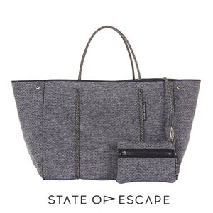 State of Escape(ステイトオブエスケープ)ESCAPE bag in LUXE charcoal marle/トートバッグ ポーチ付き/ネオプレン/チャコールマール/マザーズバッグ orangecake