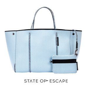 State of Escape(ステイトオブエスケープ)Baby Blue/ベビーブルー/ESCAPE BAG/トートバッグ ポーチ付き/ネオプレンバッグ/マザーズバッグ orangecake