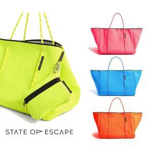 State of Escape(ステイトオブエスケープ)ビタミンカラー/ESCAPE BAG/トートバッグ ポーチ付き/ネオプレンバッグ/マザーズバッグ orangecake
