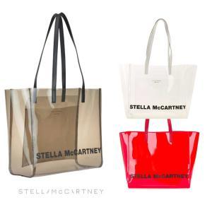 2019年モデル/ステラマッカートニー(STELLA McCARTNEY)クリアトートバッグ プールバッグ ブラウン、レッド、クリア|orangecake