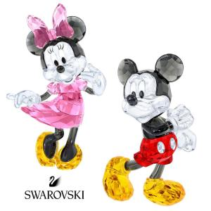 スワロフスキー(SWAROVSKI)ミッキーマウス、ミニーマウスのクリスタルオブジェ/ディズニーコラボ/Mickey Mouse/Minnie Mouse/スワロフスキー社製置物|orangecake