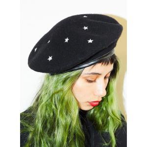 Valfre(ヴァルフェー)スター刺繍ウールハット/ベレー帽/Cosmic Beret|orangecake