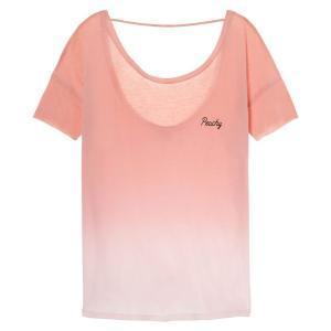 ヴィクトリアシークレットPINK(VictoriasSecretPINK)レディースTシャツ/ピンクグラデーション/Super Soft Open Back Tee orangecake