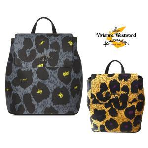 タイムセール/ヴィヴィアンウエストウッド(Vivienne Westwood)2Wayレザーリュックサック/レオパードマニア/アングロマニア/LEOPARDMANIA