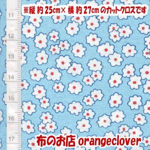 生地 布 30's復刻柄 カットクロス Windham Storybook Mini Floral 花柄 ブルー 縦約25cm×横約27cm|orangeclover