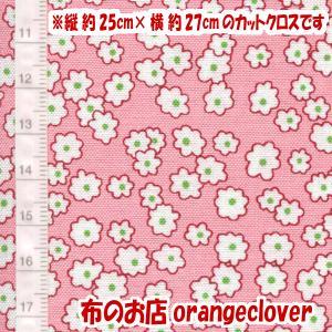 生地 布 30's復刻柄 カットクロス Windham Storybook Mini Floral 花柄 ピンク 縦約25cm×横約27cm|orangeclover