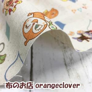 生地 布 綿麻 キッズ向け 2018 アンパンマン柄 ブルー|orangeclover|04