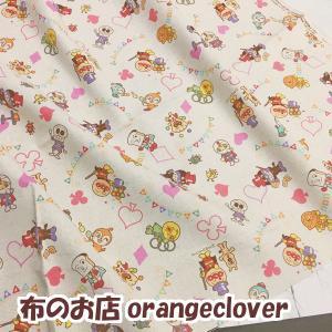 生地 布 綿麻 キッズ向け 2018 アンパンマン柄 ピンク|orangeclover|03