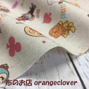生地 布 綿麻 キッズ向け 2018 アンパンマン柄 ピンク|orangeclover|04