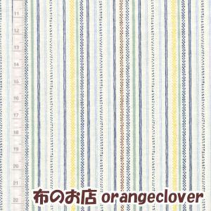 生地 布 コットンFil Collection ボーダー  ブルー|orangeclover