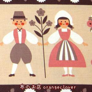 生地 布 綿 コットン KOKKA  北欧 ボーダー レッド|orangeclover