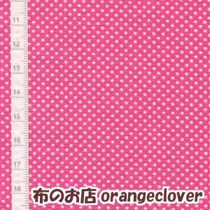 生地 布 コットン LECIEN Color Basic ドット水玉 1mm ピンク|orangeclover