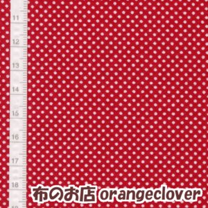 生地 布 コットン LECIEN Color Basic ドット 水玉 1mm レッド|orangeclover