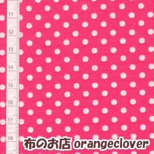 生地 布 コットン LECIEN Color Basic ドット 水玉 3mm こいピンク|orangeclover