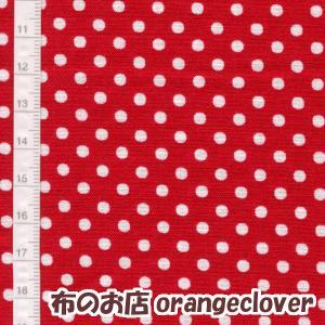 生地 布 コットン LECIEN Color Basic ドット 水玉 3mm レッド|orangeclover