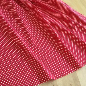 生地 布 コットン LECIEN Color Basic ドット 水玉 3mm レッド|orangeclover|02