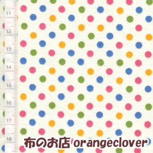 生地 布 コットン LECIEN Color Basic ドット 水玉 3mm オフホワイト カラー|orangeclover