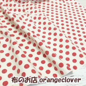 【価格改定】YUWAスラブ ドット柄 (ホワイト&レッド) orangeclover