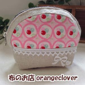 ポーチ 小物入れ シェルポーチ ルシアン30's小花(ピンク)  クロネコDM便可|orangeclover