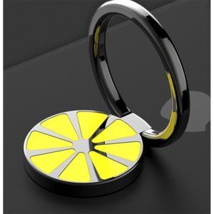 レモン バンカーリング スマホリング 人気 スタンド スマホ 全機種対応 スマホスタンド Xperia Galaxy iphone ipad タブレット対応 ステンレス 金属製|orangecoco