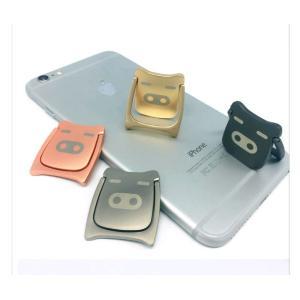 Pig ブタちゃん コブタ バンカーリング スマホリング 人気 全機種対応 スマホスタンド Xperia Galaxy iphone ipad タブレット対応 ステンレス 金属製|orangecoco