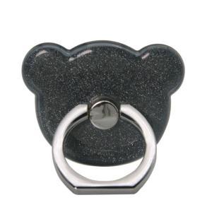 TPU BEAR 熊 クマ バンカーリング スマホリング スマホ用 全機種対応 スマホスタンド Xperia Galaxy iphone ipad タブレット対応 ステンレス TPU|orangecoco