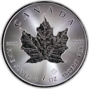 インゴット カナダ メイプルリーフ銀貨 最新2020年 純銀 999 1オンス銀貨 31.1g 38...