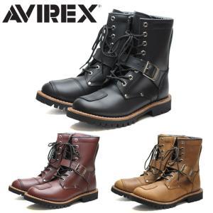 アビレックス AVIREX ヤマト ブーツ メンズ レディース ウィメンズ ブラック 黒 チェリー ...