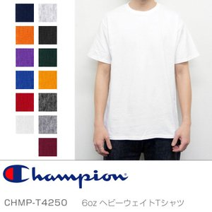 チャンピオン Tシャツ メンズ レディース ユース ロゴ 6オンス ヘビーウェイト XS XL 黒 白 赤 ブラック ホワイト レッド グレー CHAMPION 6oz T4250 Tshirt