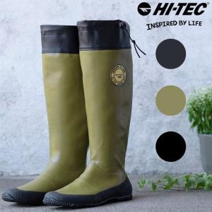 送料無料!!  イギリス発祥のアウトドアブランド「HI-TEC(ハイテック)」のレインブーツ。渓流釣...