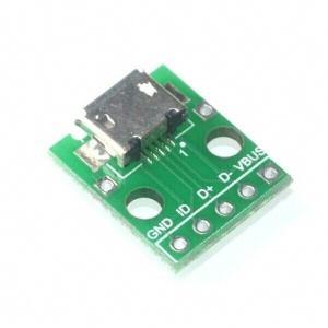 microUSBコネクターDIP化基板|orangepicoshop