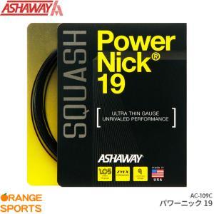 アシャウェイ スカッシュ ストリング パワーニック19 PowerNick19 AC-109C ガット ゲージ1.05mm 長さ9m ASHAWAY