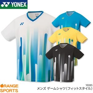 ヨネックス YONEX ゲームシャツ(フィットスタイル) 10285 メンズ 男性用 ゲームウェア ユニフォーム バドミントン テニス 日本バドミントン協会審査合格品