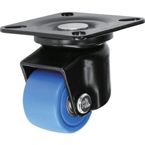 シシク 低床重荷重用キャスター 自在 50径 MC車輪 黒 ( HJ-50B-MC ) シシクSISIKUアドクライス(株)|orangetool