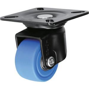 シシク 低床重荷重用キャスター 自在 65径 MC車輪 黒 ( HJ-65B-MC ) シシクSISIKUアドクライス(株)|orangetool
