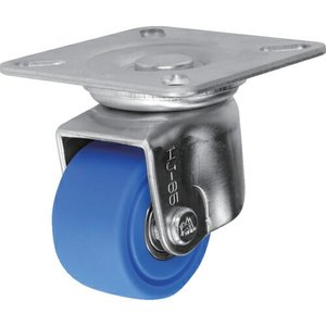 シシク 低床重荷重用キャスター 自在 65径 MC車輪 三価クロメート ( HJ-65U-MC ) シシクSISIKUアドクライス(株)|orangetool