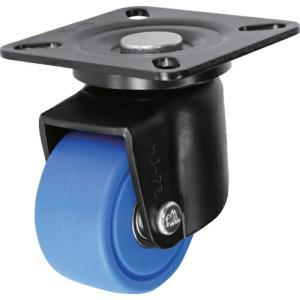 シシク 低床重荷重用キャスター 自在 75径 MC車輪 黒 ( HJ-75B-MC ) シシクSISIKUアドクライス(株)|orangetool