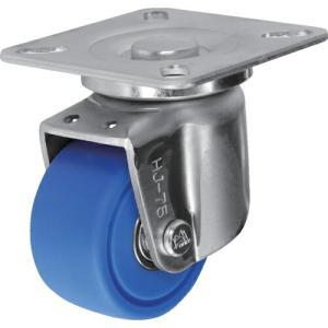 シシク 低床重荷重用キャスター 自在 75径 MC車輪 三価クロメート ( HJ-75U-MC ) シシクSISIKUアドクライス(株)|orangetool