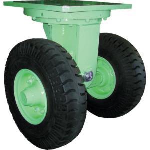 佐野車輌 超重量級キャスター ダブル自在車 荷重6400kgタイプ ( 284-6 ) (株)佐野車輛製作所|orangetool