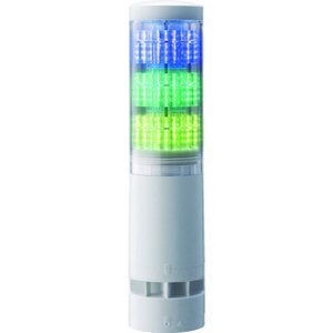 パトライト LA6型積層情報表示灯Φ60 直付け・端子台・ブザーあり ( LA6-3DTNWB-RYG 55162 ) (株)パトライト orangetool