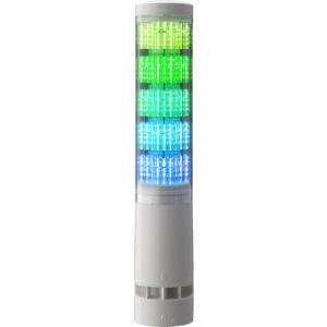 パトライト LA6型積層情報表示灯Φ60 直付け・端子台・ブザーあり ( LA6-5DTNWB-RYGBC  55162 ) (株)パトライト orangetool
