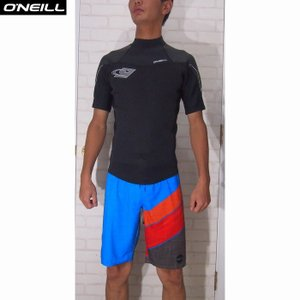 O'NEILL/オニール ウェットスーツ 国内流通モデル 日本サイズ  SUPER FREAK/スーパーフリーク 1.5×1 SSジャケット 夏用  ブラック×ストリークグレイ|orbit