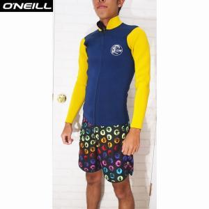 O'NEILL/オニール ウェットスーツ  SUPER LIGHT CLASSIC LTD/スーパーライトクラシックリミテッド 2×1.5 LSジャケット  ネイビー×イエロー|orbit