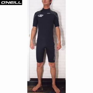 O'NEILL/オニール  ウェットスーツ 国内流通モデル SUPER FREAK/スーパーフリーク 3×2SSスプリング 夏用ウェットスーツ ブラック×ストリークグレイ|orbit