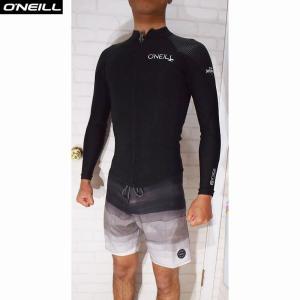 O'NEILL/オニール  SUPER FREAK/スーパーフリーク  1.5×1 LSジャケット フロントジップ 夏用ウェットスーツ ブラック×ハイウェイブラック|orbit